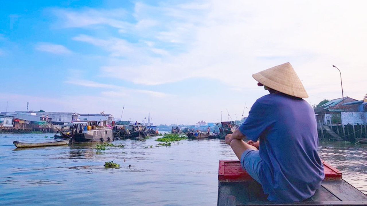 Check in chợ nổi Tiền Giang